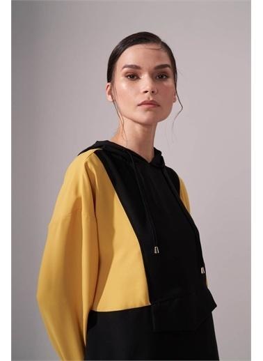 Mizalle Krep Hardal Sweatshirt Sarı